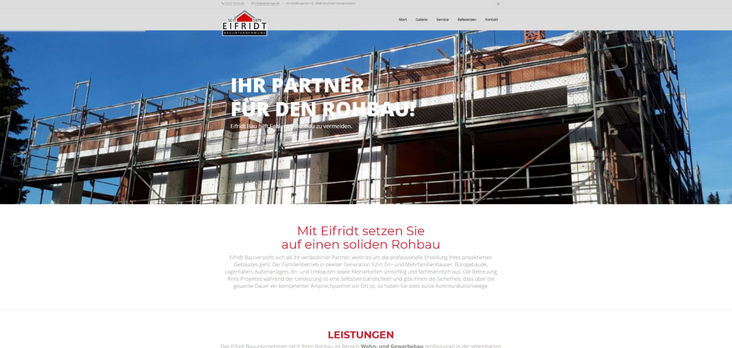 Eifridt Bau Website