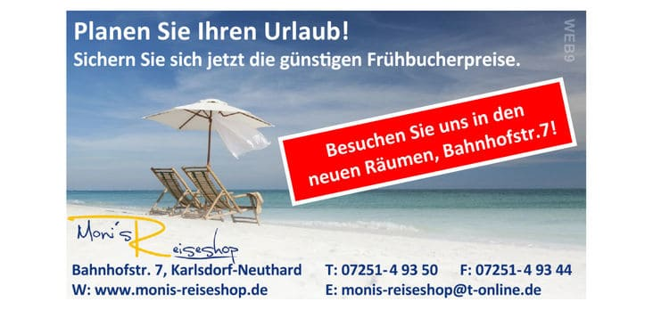 Monis Reiseshop Advertisement